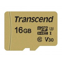 TRANSCEND Micro SDHC 500S 16GB UHS-I U3 V30, adaptér