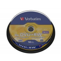 VERBATIM DVD+RW(10-Pack)Spindle4x/DLP/4.7GB
