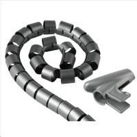 Hama trubica pre vedenie káblov, 2,5 m, 20 mm, strieborná