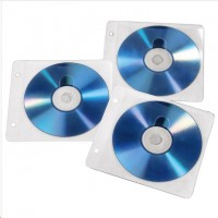 Hama CD/DVD Ring Binder Sleeves, 50 pcs./pack, white