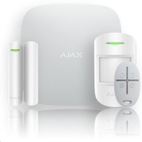 AJAX Hub kit - Set vyhodnocovací ústředny bezdrátového GSM/IP alarmu, PIR det. pohybu, magnet. kontaktu a dálk.ovlače