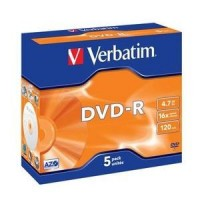 VERBATIM DVD-R (5-pack)Jewel/16x/4.7GB