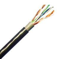 UTP kabel Elite, Cat5E, venkovní PE+PE, dvojitý plášť, 305m cívka, černý