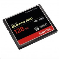 SanDisk Compact Flash Card 128GB Extreme Pro (160MB/s) VPG 65, UDMA 7