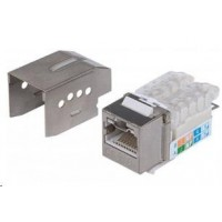Intellinet Locking Cat6A Keystone Jack, FTP, Toolless, Locking Function, Metallic