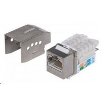 Intellinet Locking Cat6 Keystone Jack, FTP, Toolless, Locking Function, Metallic