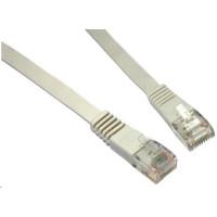 Solarix Patch kabel plochý CAT5E UTP LSOH 0,5m šedý non-snag-proof