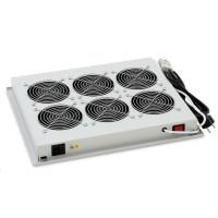 TRITON Ventilační jednotka horní (spodní), 6 ventilátory-230V/90W, termostat, černá