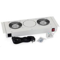 TRITON Ventilační jednotka spodní(horní) pro RBA-A6, RUA-1V-230V/15W termostat, černá