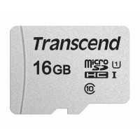 TRANSCEND Micro SDHC 300S 16GB UHS-I U1, s adaptérem