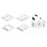 TRITON montážní redukce ke klimatizaci X1 a X2 na šířku rozvaděče 800 x 1000 mm, černá