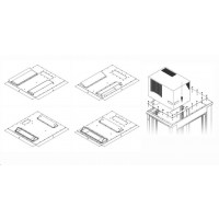TRITON montážní redukce ke klimatizaci X3 a X4 na šířku rozvaděče 800 x 1000 mm, šedá