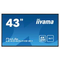 Iiyama monitor ProLite LE4340UHS-B1, 109,2 cm (43''), 4K, VGA, HDMI, DVI, USB, RJ45, RS232, black