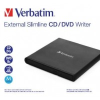 VERBATIM externí mechanika Slimline CD/DVD Writer - without NERO