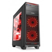 1stCOOL skříň GAMER 1, Full Tower, AU, USB 3.0, bez zdroje, Black