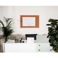 Korková nástěnka AVELI 60x90, dřevěný rám