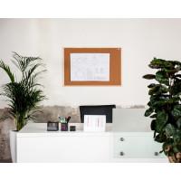 Korková nástěnka AVELI 90x180, dřevěný rám