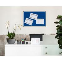 Textilní  nástěnka AVELI 90x60, hliníkový rám