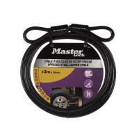 Master Lock 49EURD Ohebné ocelové lanko - 300cm x 1cm