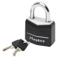 Master Lock 9140EURDBLK Visací zámek  z pevného hliníku
