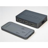 PREMIUMCORD HDMI switch 3:1 plastový s dálkovým ovladačem