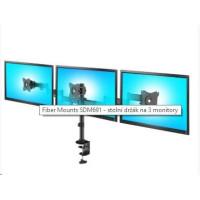 Fiber Mounts SDM691 - stolní držák na 3 monitory
