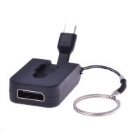 PREMIUMCORD Adaptér USB 3.1 Typ-C male na DisplayPort female,zasunovací kabel a kroužek na klíče