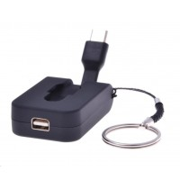 PREMIUMCORD Adaptér USB 3.1 Typ-C male na mini DisplayPort female,zasunovací kabel a kroužek na klíče