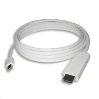 PREMIUMCORD Kabel mini DisplayPort 1.2 na HDMI 2.0, pro rozlišení 4Kx2K@60Hz, 1m