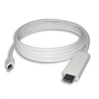 PREMIUMCORD Kabel mini DisplayPort 1.2 na HDMI 2.0, pro rozlišení 4Kx2K@60Hz, 2m