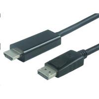 PREMIUMCORD Kabel DisplayPort 1.2 na HDMI 2.0, pro rozlišení 4Kx2K@60Hz, 3m
