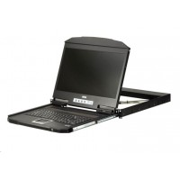 """ATEN ultra short console, 18.5"""" LED LCD, rack 19"""", klávesnice, touchpad, HDMI/USB"""