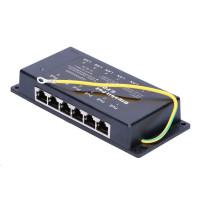Pasivní gigabitový POE injektor panel - 6 portů, stíněný