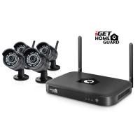 iGET HOMEGUARD HGNVK88304 Bezdrátový kamerový systém, 8-kanálový FullHD rekordér NVR + 4x venkovní wifi FullHD kamera
