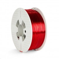 VERBATIM 3D Printer Filament PET-G 1.75mm 1000g red transparent