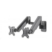 "Manhattan Dual Wall Mount, Two gas-spring jointed arms, for two 17"" to 32"" monitors"