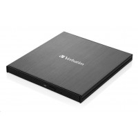 VERBATIM externí mechaníka Ultra HD 4K Blu-ray External Slimline Writer (USB 3.1, USB-C) + zdarma 25GB MDISC