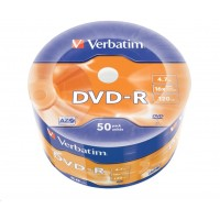 VERBATIM DVD-R (50-Pack) 16x WRAP 4.7GB MATT