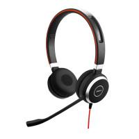 Jabra náhlavní souprava Evolve 40, stereo, USB-C + 3,5 mm jack, MS