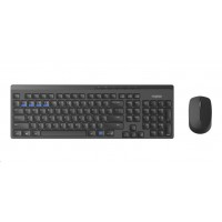 RAPOO 8100M Wireless Multi-Mode Optical Mouse and Keyboard Set Black CZ/SK