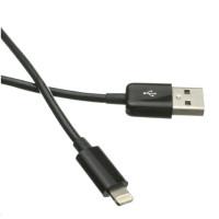 Kabel C-TECH USB 2.0 Lightning (IP5 a vyšší) nabíjecí a synchronizační kabel, 2m, černý