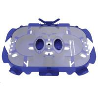 Optická kazeta s transparentním víčkem OPTONICS a hřebínky pro 24 svarů, 2 výklopné držáky