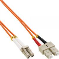 Duplexní patch kabel MM 62,5/125 OM1, LC-SC, LS0H, 10m