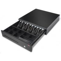 Virtuos pokladničná zásuvka C425-RJ10P10C, bez kábla, kov. držiaky, 9-24V, čierna