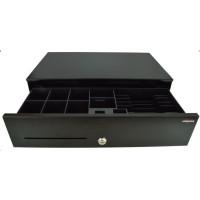Virtuos pokladní zásuvka SK-500C, s kabelem , pořadač 6/8, 9-24V, černá