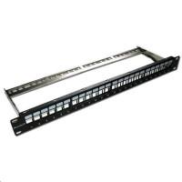 """19"""" modulární stíněný patch panel XtendLan 24port, černý"""