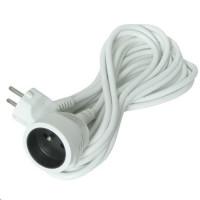 Solight prodlužovací kabel - spojka, 1 zásuvka, bílá, 5m