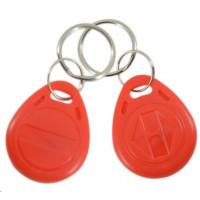 ESES klíčenka RFID, 125 KHz červený, vyražené číslo, 100-pack