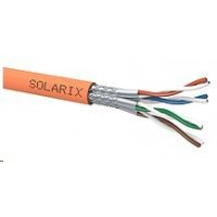 Instalační kabel Solarix SSTP, Cat7A, drát, LSOH, cívka 500m