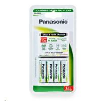 PANASONIC Smart&Quick nabíječka BQ CC55 K-KJ55MGD40E vhodné pro AA/AAA (vč. 4x nabíjecí AA) 1,5 - 3h (Blistr 1ks)